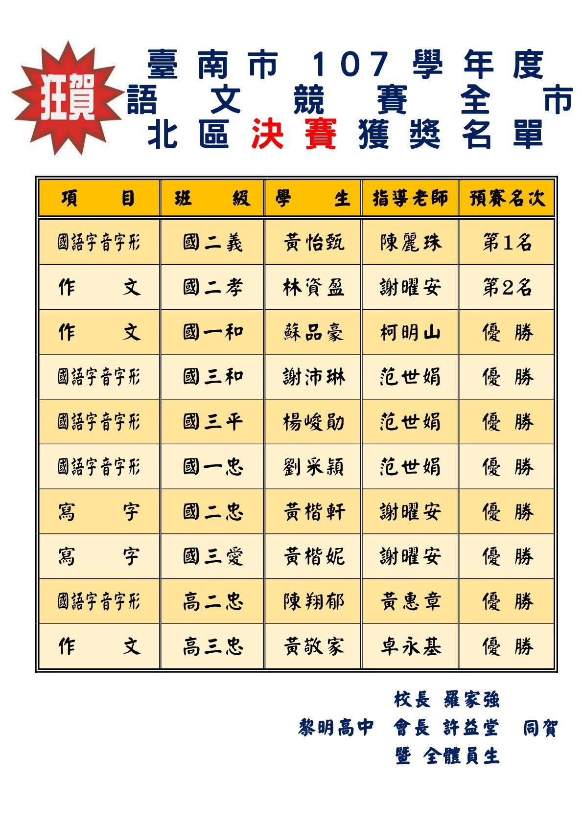 107國語文競賽-決賽